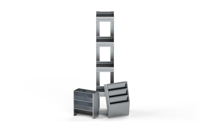 Aluminum Literature Storage Options