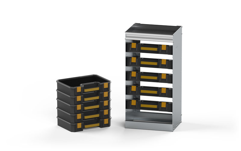 Parts Totes and Aluminum Holder